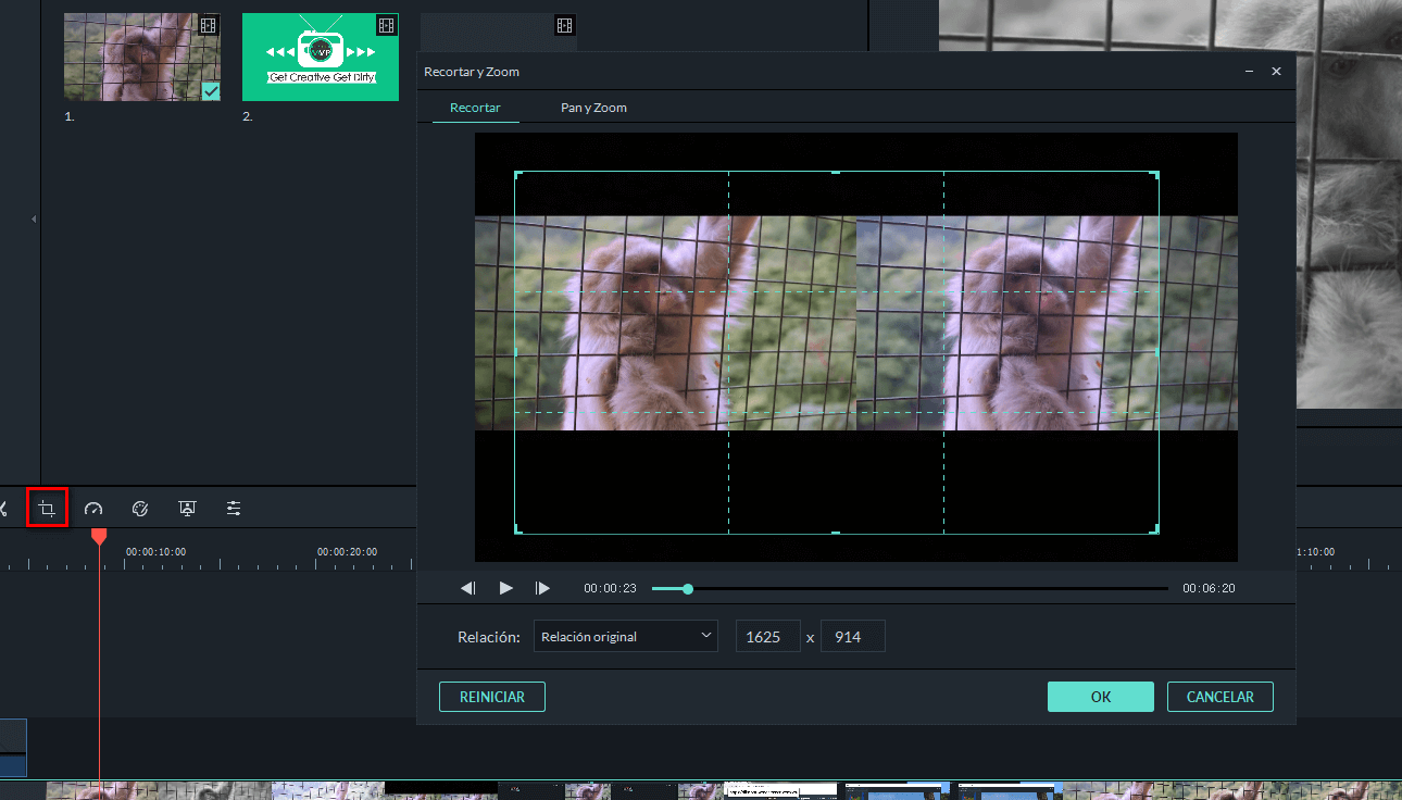 zoom in videos