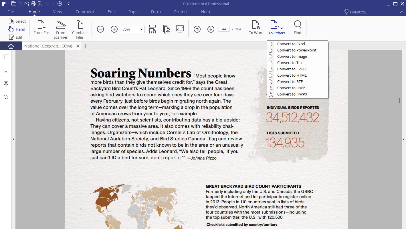 convert pdf to various file types