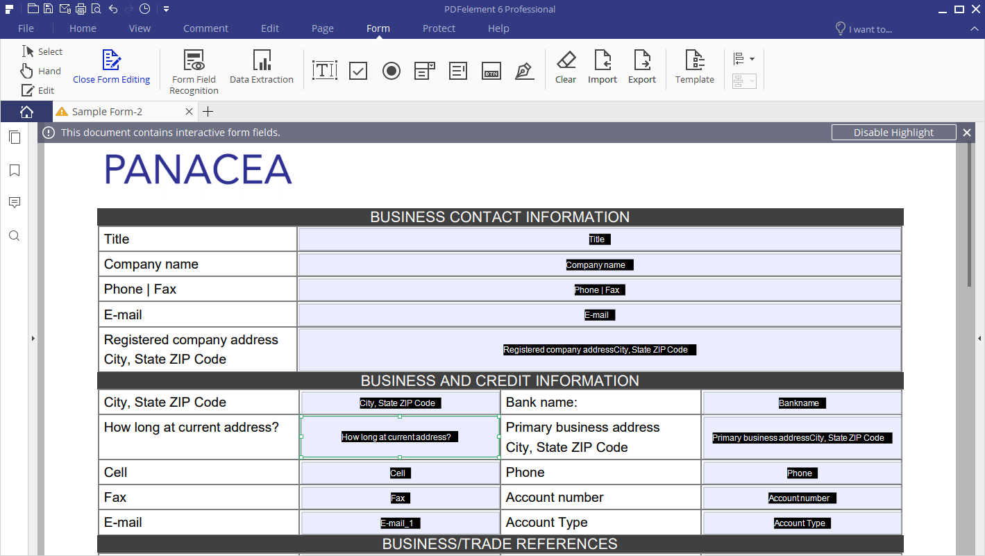 Crear PDF formularios rellenables