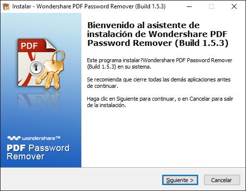 instalar pdf password remover