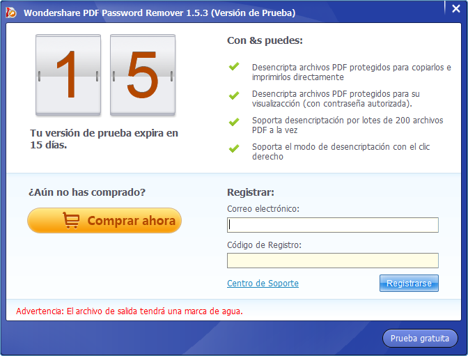 registrar pdf password remover