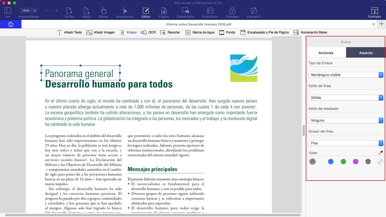 agregar hipervinculo en PDF en Mac