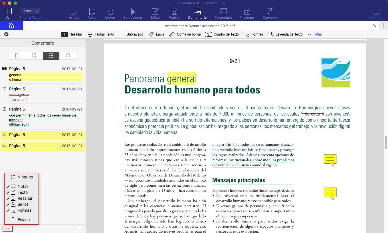 eliminar notas adhesivas de pdf