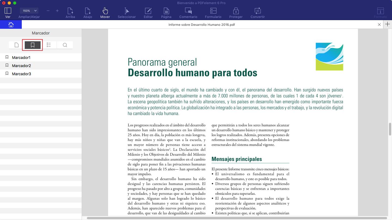Abrir pdf con marcadores en mac