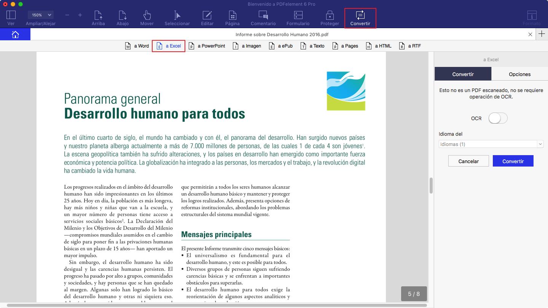 Converir pdf en mac