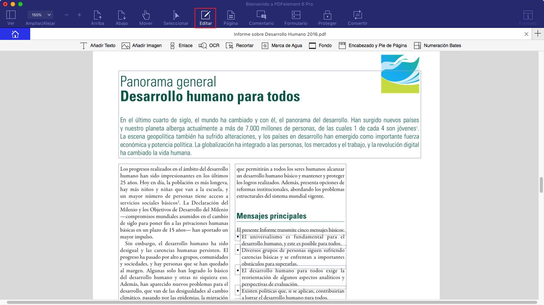 Editar archivos PDF