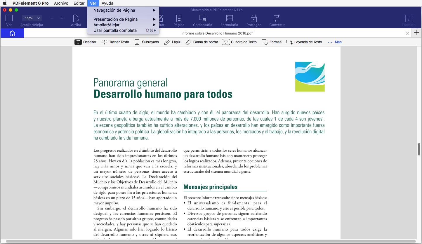 visualizar pdf usando mac