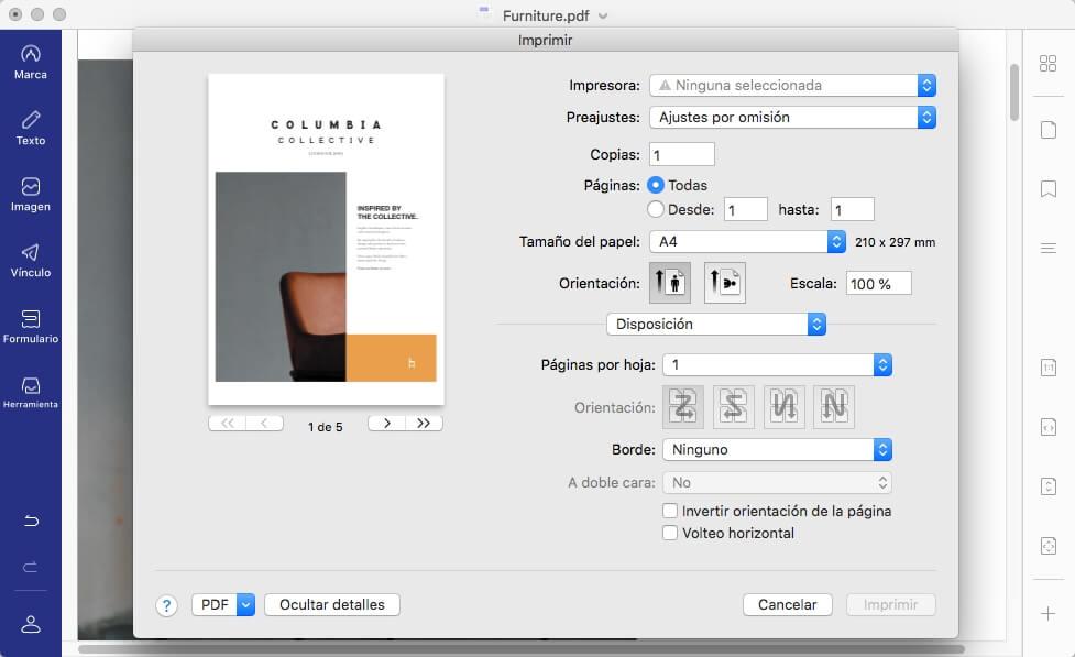print properties more