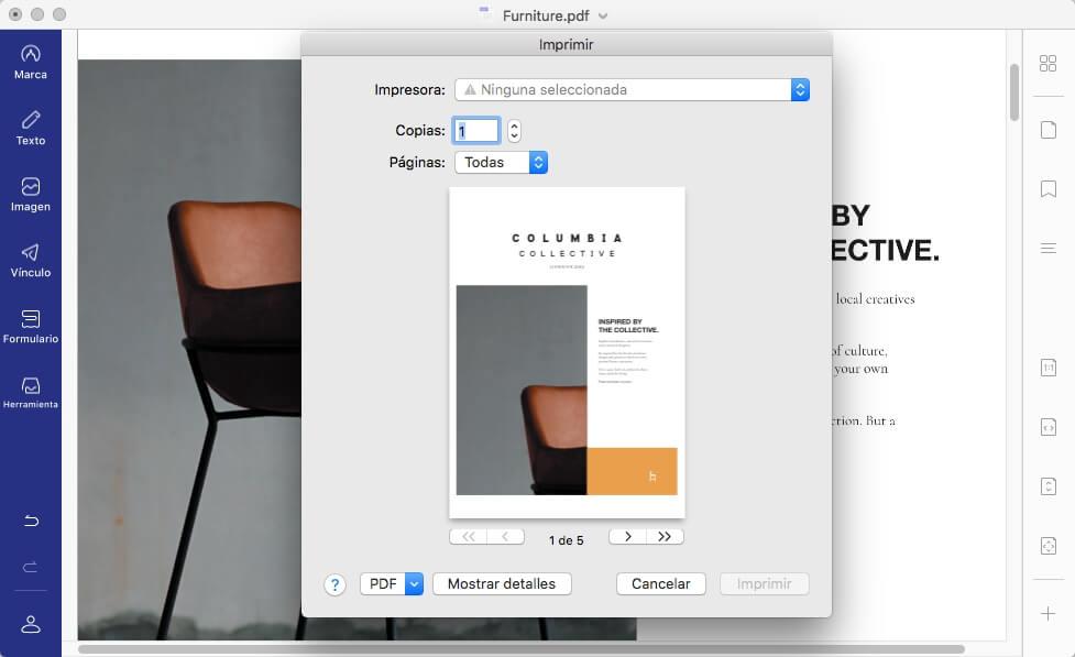 vista previa de impresión para mac