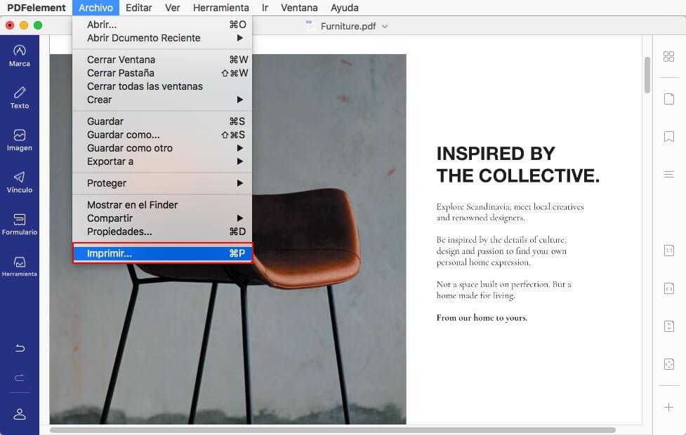 cómo imprimir la vista previa en mac