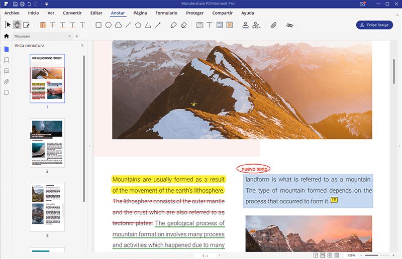 editar pdf con anotaciones