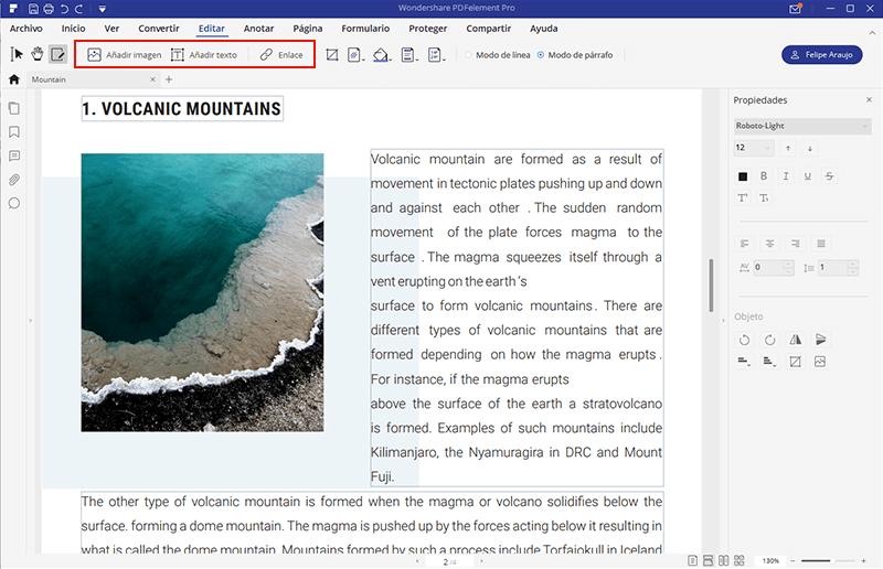 editar pagina web convertida en pdf