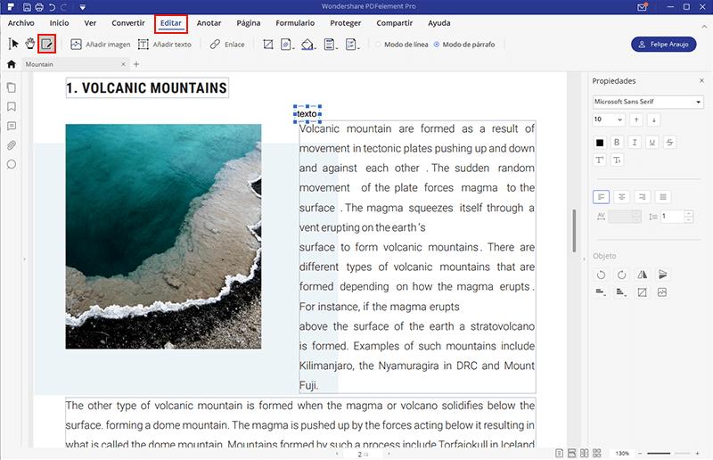 comment modificar pdf