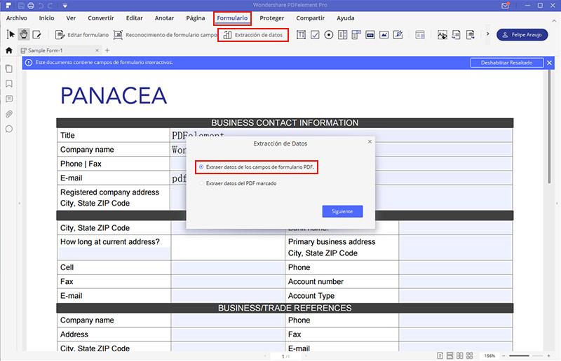 extraer datos de pdf a Excel