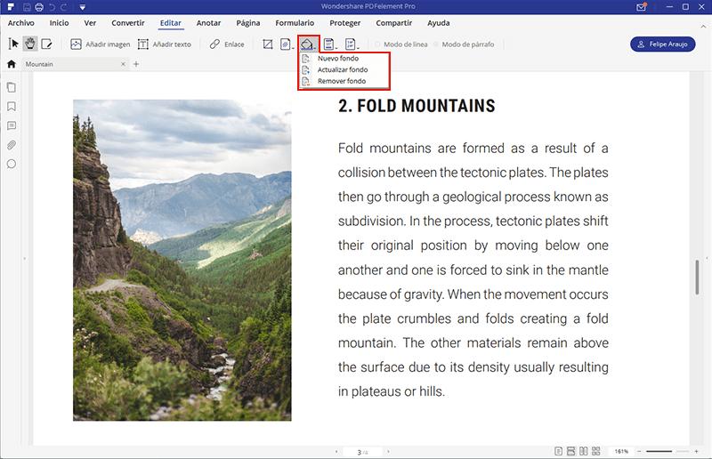 eliminar el fondo en pdf