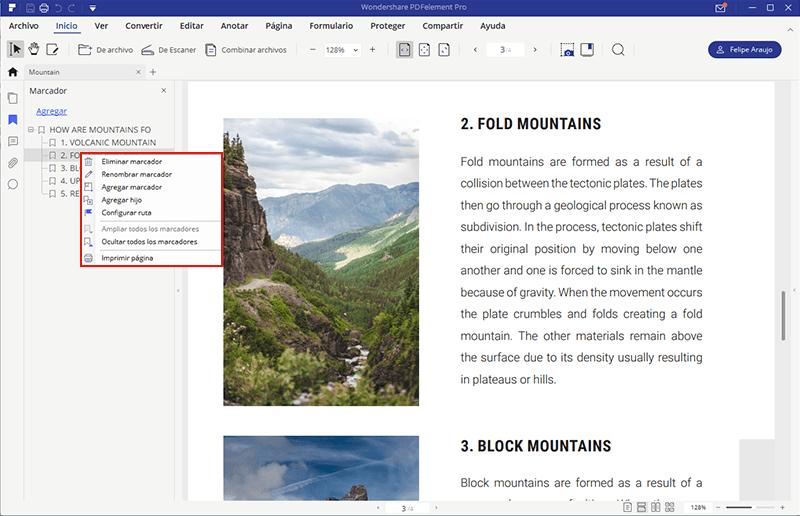 agregar marcadores en pdf