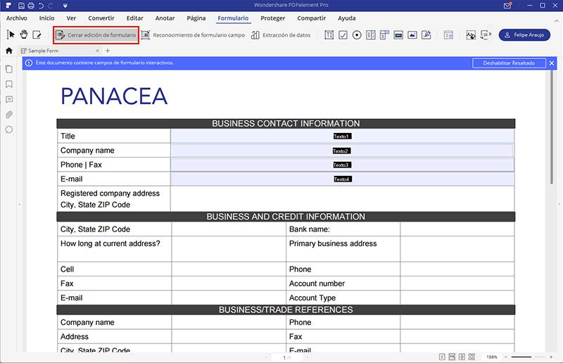cómo hacer un formulario editable