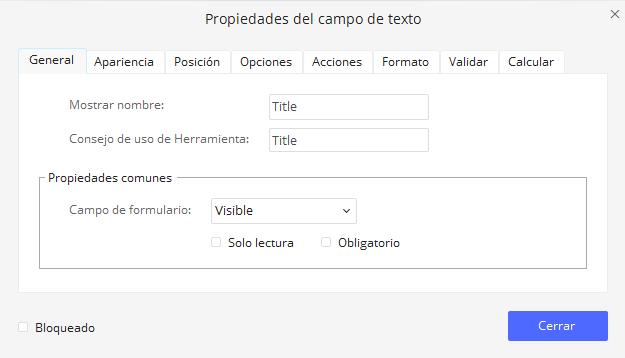 diseñar un formulario pdf