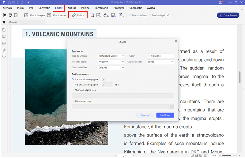 pdf enlazar a página