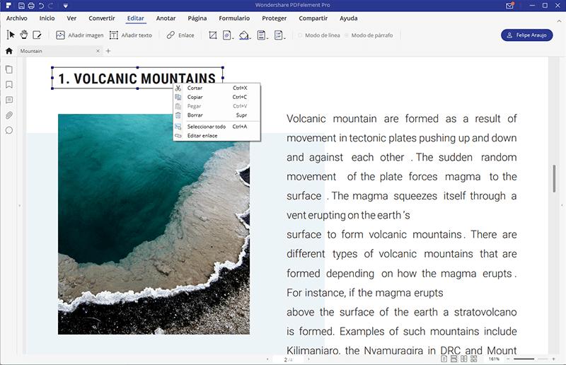 editar link en pdf
