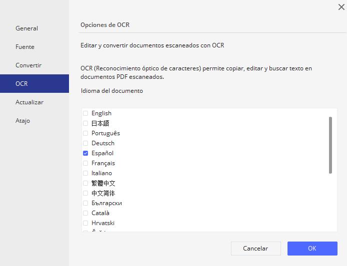 Convertir un archivo PDF escenado a Word