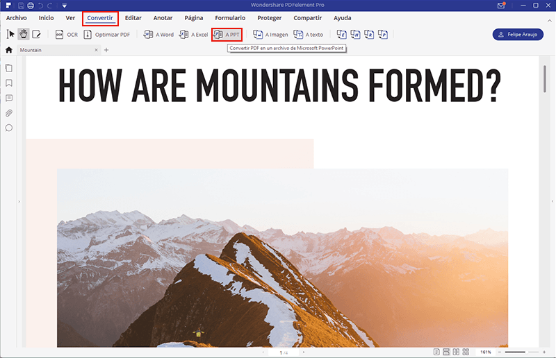 cómo abrir pdf en ppt