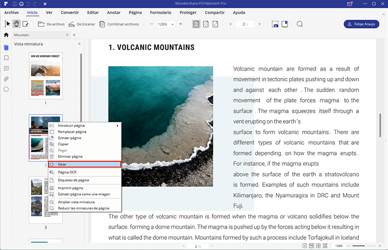 cómo girar un pdf