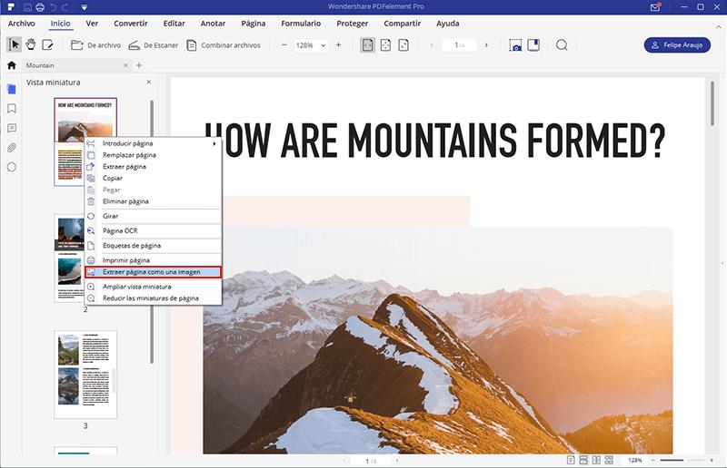 guardar pdf de múltiples páginas