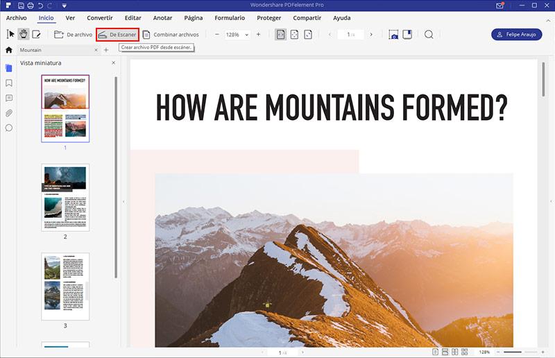 escanear a pdf de varias páginas