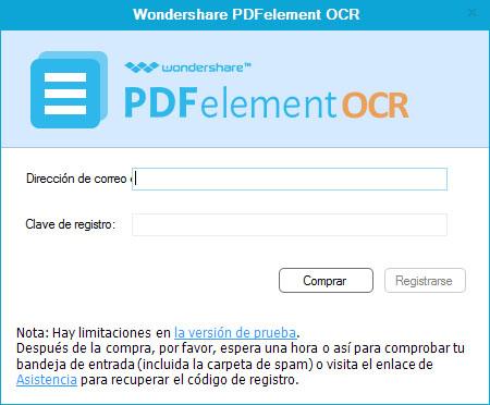Registrar el Plug-in OCR