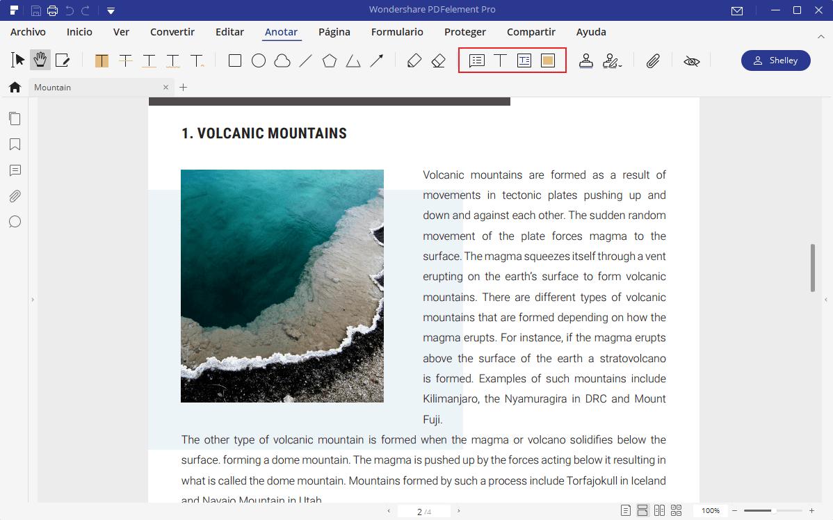 cómo imprimir comentario con pdf