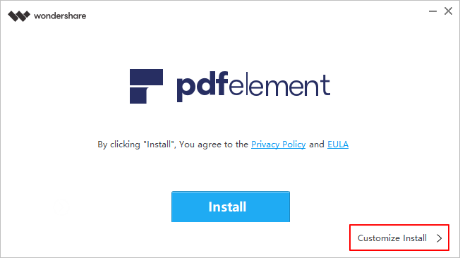 install pdfelement on windows