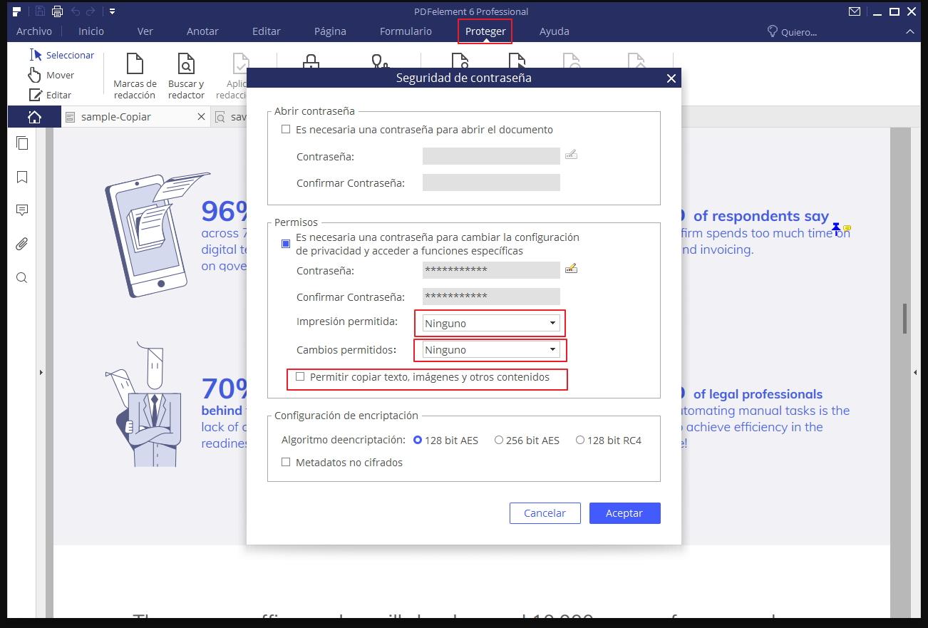 Como proteger un archivo pdf de la copia