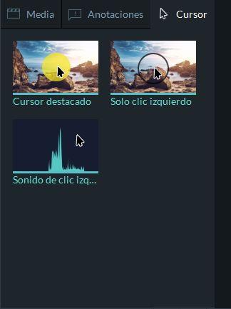 effectos de cursor