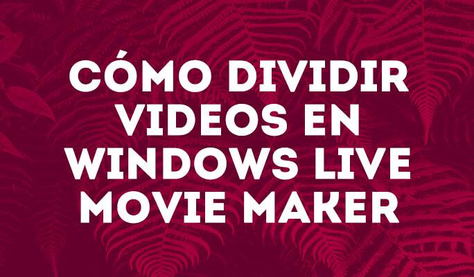 Cómo dividir videos en Windows Live Movie Maker