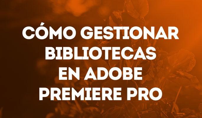 Cómo gestionar bibliotecas en Adobe Premiere Pro