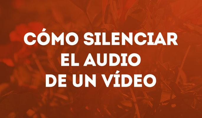 Cómo quitar audio a un video