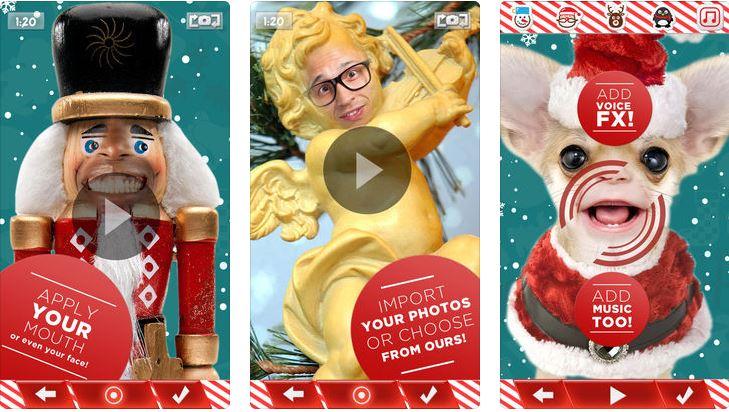 crear video navidad elf labios