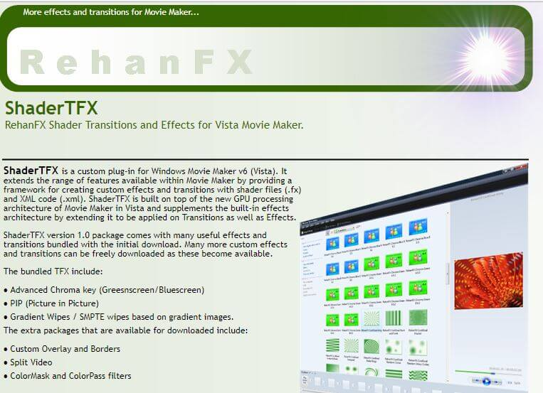 extension pantalla verde movie maker