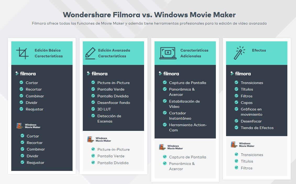 filmora vs movie maker