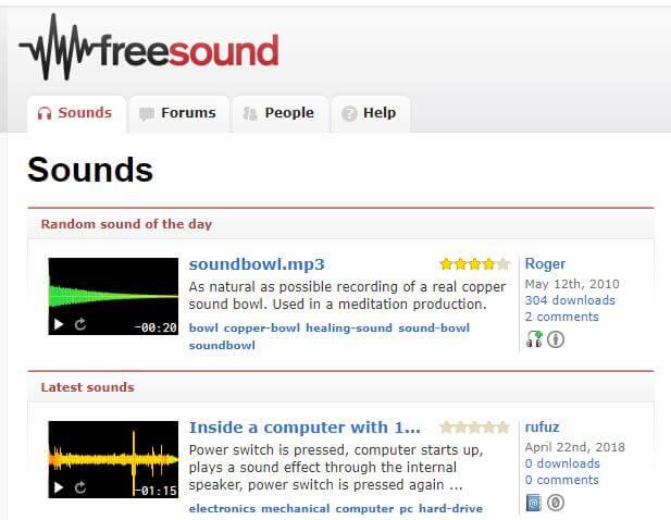 freesound descargar efectos gratis