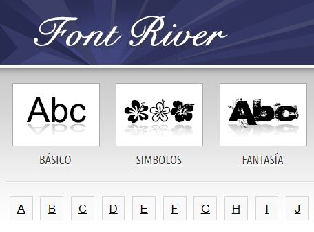 fuentes gratis font river