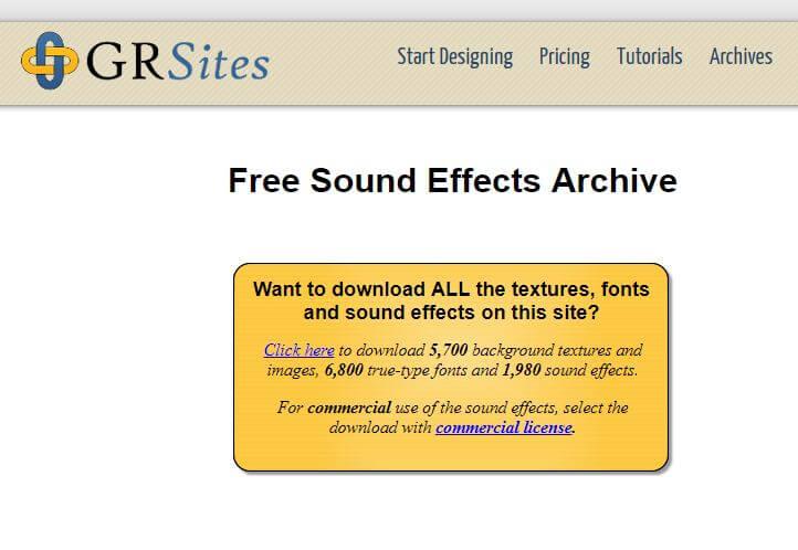 grsites fx sonido gratis