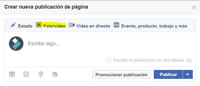 hacer presentacion facebook