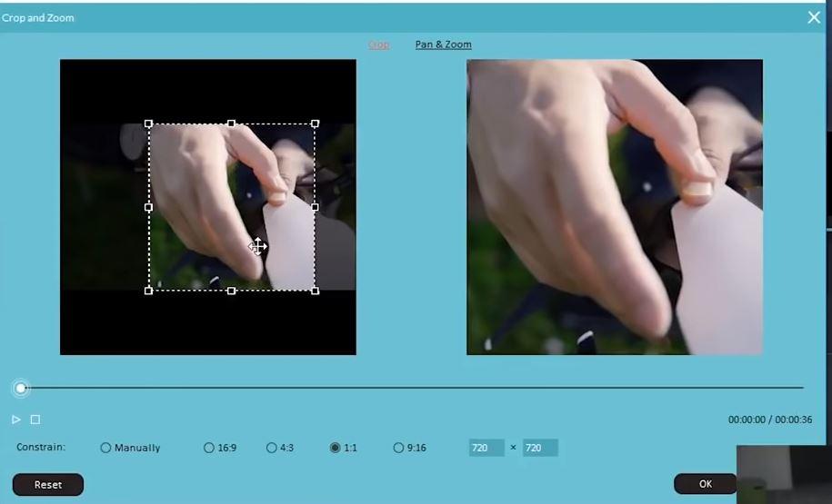 Cómo recortar videos de Instagram - Hazlos cuadrados o verticales