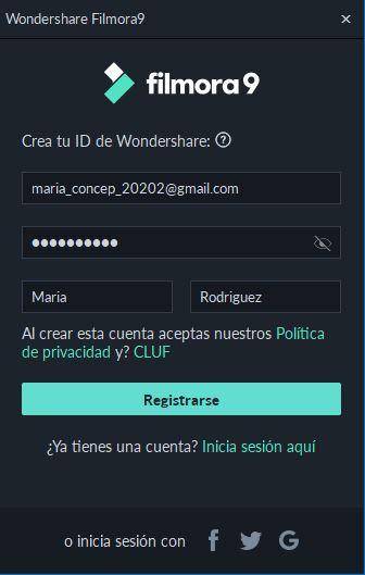 registrar cuenta WSID