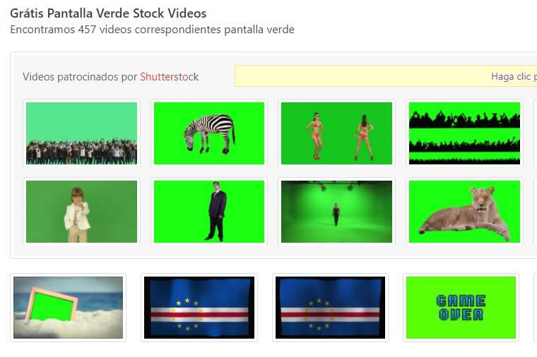 descargar vídeos con pantalla verde