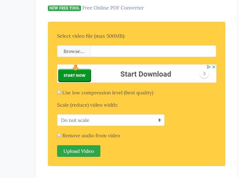 comprimir video online