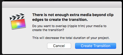Create transitions in FCP