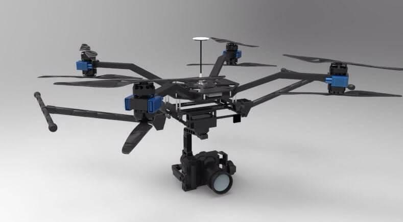 az 4k uhd camera drone green bee 1200 Los 10 mejores drones de carga de 2018